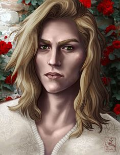 A portrait of lovely Lucien, from A Court of Thorns & Roses, by Sarah J. A Court Of Wings And Ruin, A Court Of Mist And Fury, Fanart, Book Characters, Fantasy Characters, Lestat And Louis, Feyre And Rhysand, Captive Prince, Sarah J Maas Books