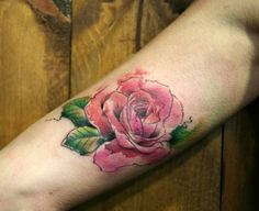 Rose watercolor tattoo - 65+ Examples of Watercolor Tattoo  <3 !