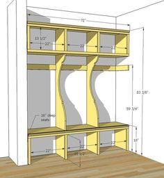 mudroom locker plans