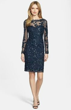 Nordstrom Dresses - Patra Beaded Mesh Dress available at -- bridesmaid or mother of the bride Mob Dresses, Dressy Dresses, Nice Dresses, Fashion Dresses, Mother Of Groom Dresses, Bride Groom Dress, Mothers Dresses, Mesh Dress, Lace Dress