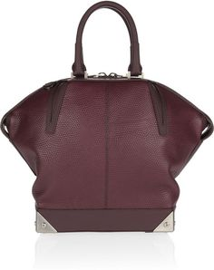 Alexander Wang leather tote in oxblood