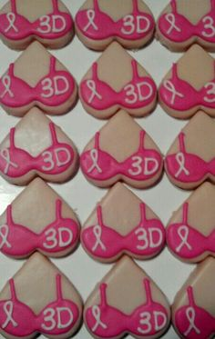 Breast Cancer Awareness cookies Breast Cancer Bras, Breast Cancer Party, Breast Cancer Fundraiser, Breast Cancer Support, Birthday Cake Prices, Pink Sweets, Ovarian Cancer Awareness, Pink Parties, Bake Sale