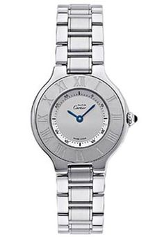 Cartier 21 Must Stainless Steel Lady's Replica Watch W10109T2 ,cheap Cartier Watches discount