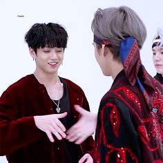 "V Jungkook doing the  ""I love you, I promise"" Handshake"