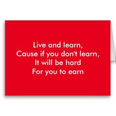 Live and learn post card by ralph staples greetings inc live and learn greeting cards m4hsunfo