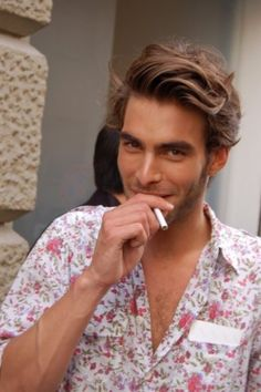 Jon Kortajarena. What the hell is that ugly shirt he's wearing? He's so stunning, though.