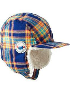 Plaid-Flannel Trapper Hats for Baby | Old Navy