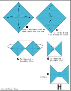 Alphabet H - Easy Origami For Kids