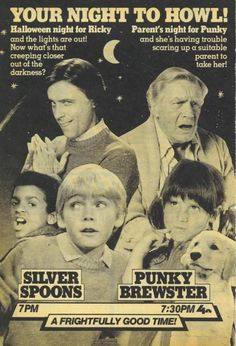 TV Guide Halloween Promo for Silver Spoons and Punky Brewster Retro Halloween, Halloween Night, Halloween Stuff, Happy Halloween, Great Tv Shows, Old Tv Shows, 1980s Tv Shows, Punky Brewster, Tv Ads