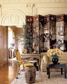 ~Michael Taylor (from 1980). My all-time favorite living room. Amazing architecture and an outstanding eclectic collection of furniture and accessories. From over 30 years ago! Timeless?