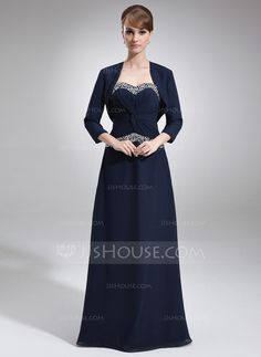 Mother of the Bride Dresses - $142.99 - A-Line/Princess Sweetheart Floor-Length Chiffon Mother of the Bride Dress With Ruffle Beading (008016763) http://jjshouse.com/A-Line-Princess-Sweetheart-Floor-Length-Chiffon-Mother-Of-The-Bride-Dress-With-Ruffle-Beading-008016763-g16763