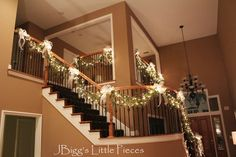 JBigg's Little Pieces: Elegant Christmas Staircase