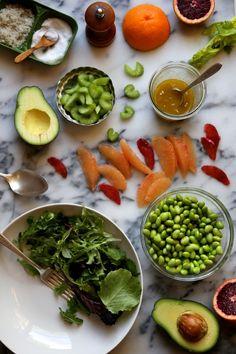 Bonkers Awesome Avocado Grapefruit and Edamame Salad | http://joythebaker.com/2014/01/bonkers-awesome-avocado-grapefruit-and-edamame-salad/