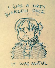 Grumpy Anders! I Was A Grey Warden Once by Neoxpuff on deviantART