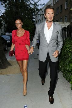 """Victoria and David Beckham. David rose to fame for his legendary play for Britain's national soccer team and Victoria came into the spotlight as """"Posh Spice"""" of the Spice Girls. The couple is reportedly worth more than $190 million dollars. Victoria is quite career oriente -- she was just named as Range Rover and Land Rover's new Creative Design Executive. She also has her own self- titled fashion line. The couple has four children."""
