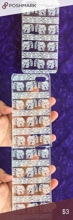 iPhone 5(S) Case Cute iPhone 5 or 5S clear plastic case. It have cute little elephants with a tribal pattern No scratches. Not broken. Fits great on phone. Accessories Phone Cases