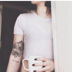 #tattoos #rose #line #blackwork #gül #dövme #xbariskaya