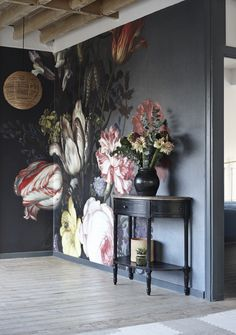 'Flowers In A Vase With Shells And Insects' Mural - #National #Gallery Collection | Shop Epic Posterstunning vintage art & Wall Murals at surfaceview.co.uk