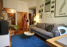 Small Spaces, NYC Style: 10 Homes Under 600 Square Feet American Style   Apartment Therapy