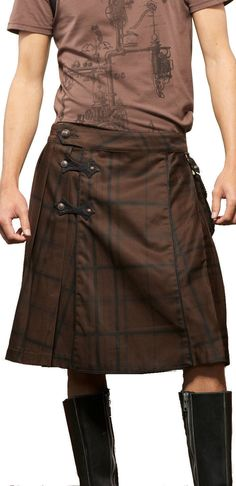 Lip Service Steampunk vegi Leather Rock Irish Scotish Gothic Pants Kilt Skirt 36 | eBay