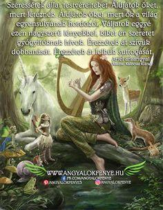 Ariel arkangyal üzenete: Szeressétek állat testvéreiteket ~ Angyalok fénye Ariel, Garden Sculpture, Outdoor Decor