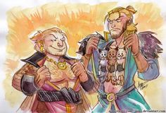 Varric and Anders, DA2, by aimo