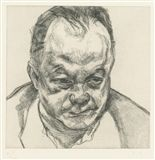Lucian Freud - HEAD OF BRUCE BERNARD (H. 26), 1985... on MutualArt.com