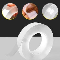 Washable Strong Gel Anti-Slip Adhesive Tape STYLINGCAR Reusable Nano Adhesive Tape Photos Fixing Carpet Kitchen for Wall Multifunctional Transparent Double Sided No-Trace Removable Magic Tape