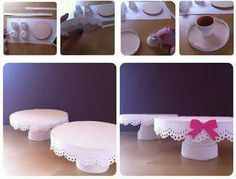 Discover thousands of images about DIY cupcake stand (Bridal shower) : wedding bridalshower cake cupcakes diy pink stand Bolo Diy, Ideas Para Fiestas, Candy Table, Diy Cake, Baby Party, Diy Flowers, Holidays And Events, Party Time, Diy And Crafts