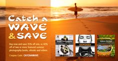 Save 35-40% on Michael Clark's Exposed or Tom Bol's Adventure Sports Photography: Creating Dramatic Images in Wild Places today with our Catch a Wave & Save summer sale!  Now through Sept. 20, 2012.