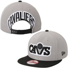 Men's Cleveland Cavaliers New Era Gray Mark Backer Original Fit 9FIFTY Adjustable Hat