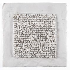 Leonardo Drew, Number 108D, 2007 Cast paper, on paper mounted on wood