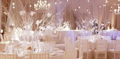winter theme venue styling