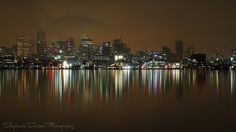 Gas Works Park on a Rainy Night. Stephanie Sinclair, Rainy Night, Night Shot, Amazing Pics, San Francisco Skyline, New York Skyline, Seattle, Explore, Park