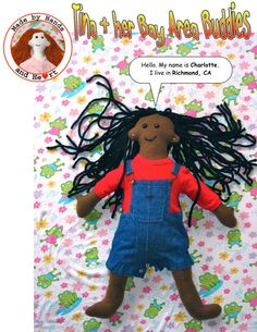 """Free Shipping when you enter the code: """"ARTSHOW"""". Tina and Her Bay Area Buddies Charlotte doll by rabbitstudios, $40.00"""