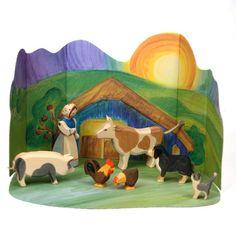 Ostheimer Farm Set with Diorama! So beautiful