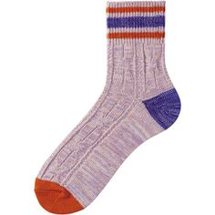 MEN LINE CABLE ANKLE SOCKS Color: 73 PURPLE Uniqlo Men, Ankle Socks, Cable, Purple, Color, Fashion, Cabo, Moda, Socks