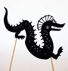 RESERVED for Anyur Seamonster Shadow Puppet door owlyshadowpuppets