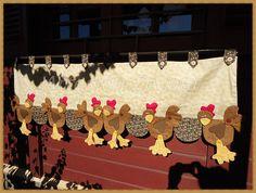Cenefa de gallinas