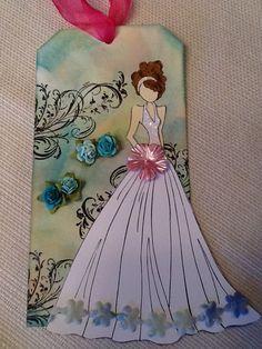 Julie Nutting doll stamp tag