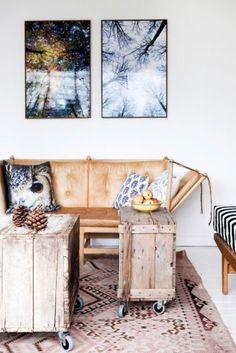 Rustic Interior Design Sitting Area Living Room