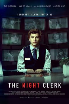First Poster for Crime-Thriller 'The Night Clerk' - The front desk clerk at a hotel is suspected of a murder that occurs during his shift. - Starring Tye Sheridan, Ana de Armas, Helen Hunt, and John Leguizamo Helen Hunt, 2020 Movies, Hd Movies, Movies Online, Movies And Tv Shows, Cinema Movies, Netflix Movies, Watch Movies, Movie Tv