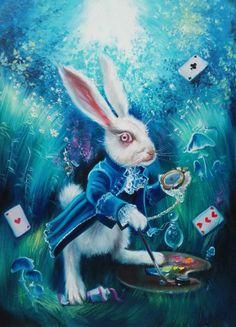 Alice In Wonderland Aesthetic, Alice In Wonderland Book, Alicia Tim Burton, Alice Rabbit, Art Drawings Sketches, Rainbow, Wallpapers, Fantasy, Disney