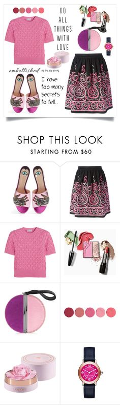 """""""Lovely day"""" by hani-bgd ❤ liked on Polyvore featuring Gucci, P.A.R.O.S.H., RED Valentino, Diane Von Furstenberg, Kjaer Weis, Lancôme, Marc Jacobs and embellishedshoes"""