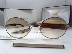 2011 new Cartier 7550178 Black Buffalo Sunglasses In Silver