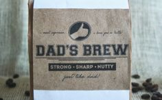 Free Father's Day Printables // Coffee Labels for Dad