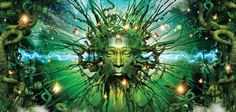 Chill out with the best 360 chill out music video mix. Experience the Tiger Tree Spirit where chilled beats, dub vibes and trippy art help you to manage stre. Chill Out Music, Psy Art, Visionary Art, Crazy People, Wierd People, Green Man, Psychedelic Art, Sacred Geometry, Fractals