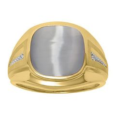 Diamond and Grey Cat Eye Men's Large Ring In Yellow Gold Father's Day 2015 Unique Jewelry Gift Presents and Ideas. Gemologica.com offers a large selection of rings, bracelets, necklaces, pendants and earrings crafted in 10K, 14K and 18K yellow, rose and white gold and sterling silver for that special dad. Our complete collection and sale of personalized and custom gifts for dad: www.gemologica.com/mens-jewelry-c-28.html