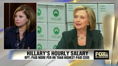 Hillary Criticizes High CEO Pay, Charges $300K Per Speech /// Hillary is so horribly corrupt and phony that she has lost the moral high ground to Fox.