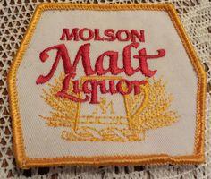 Molson Malt Liquor Beer Appliques Patches by LouisandRileys on Etsy